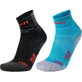 UYN Free Run Sokken Dubbele set Dames, zwart/turquoise
